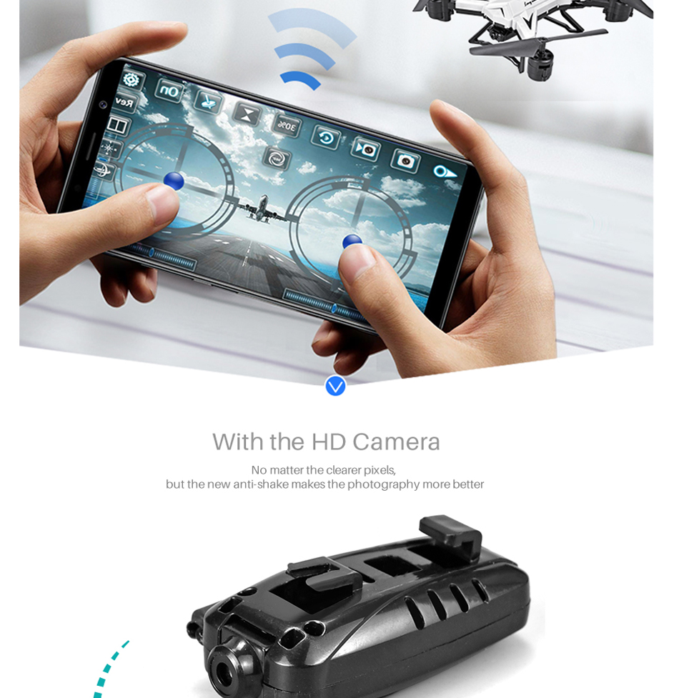 RC Helicopter KY601S Professional Drone with Camera HD 1080P WIFI FPV Quadcopter Drone Toys for Kids 15 Minutes Playing Time 9