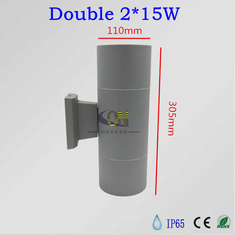 Free shipping Double 2*9W 2*15W 2*20W COB LED Outdoor Wall Light 18W 30W 40W Outdoor LED Wall Lamp outdoor waterproof IP65