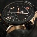 2017 New Brand Men Leather Strap Sports Watches Men's Quartz Clock Man Army Military Fashion Casual Waterproof Wrist Watch