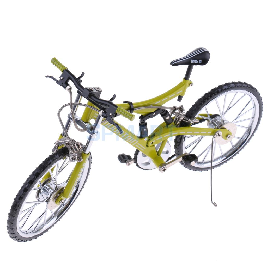 1:10 Scale Miniature Alloy Die Cast Bicycle Cycle Cycling Mountain Bike Model Toy for Children/ Adults' Hobby Collection Green игрушка remo hobby mountain lion xtreme rh1072