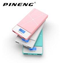 Pineng 10000 мАч Запасные Аккумуляторы для телефонов PN-983 банк Портативный Батарея мобильный литий-полимерный Мощность банк со светодиодным индикатором для iphone7plus Samsung
