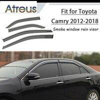 Atreus 1set ABS For 2018 2017 2016 2015 2014 2012 Toyota Camry Accessories Car Vent Sun Deflectors Guard Smoke Window Rain Visor