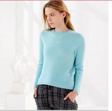 100%Cashmere Sweater Women's Fashion O-neck Sky blue Yellow White Pullover Solid Thick Natural Fabric High Quality Free Shipping