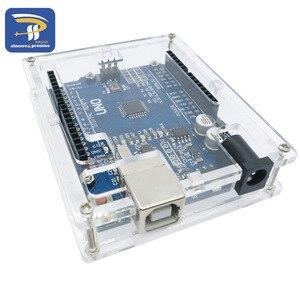 Image 4 - אחד סט שקוף תיבת מקרה מעטפת עבור Arduino UNO R3