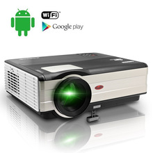 CAIWEI Android WIFI Digital Smart Home Theater Projector Game Proyector Support HD 1080P 4000 Lumens for