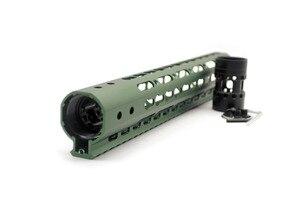 12 ''pulgadas Slim verde oliva AR15 flotador gratis keymod guardamanos riel Picatinny para la caza