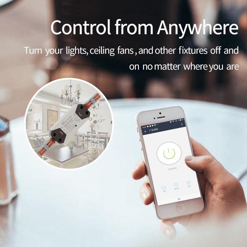Zemismart WiFi Smart Switch Alexa Google Assistant APP Remote Control  Automation Module DIY Timer AC 90-250V