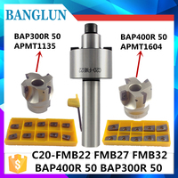 C20 FMB22 Face Mill Cutter BAP300R BAP400R 50 22 With 10Pcs APMT1604 Carbide Insert Suitable For