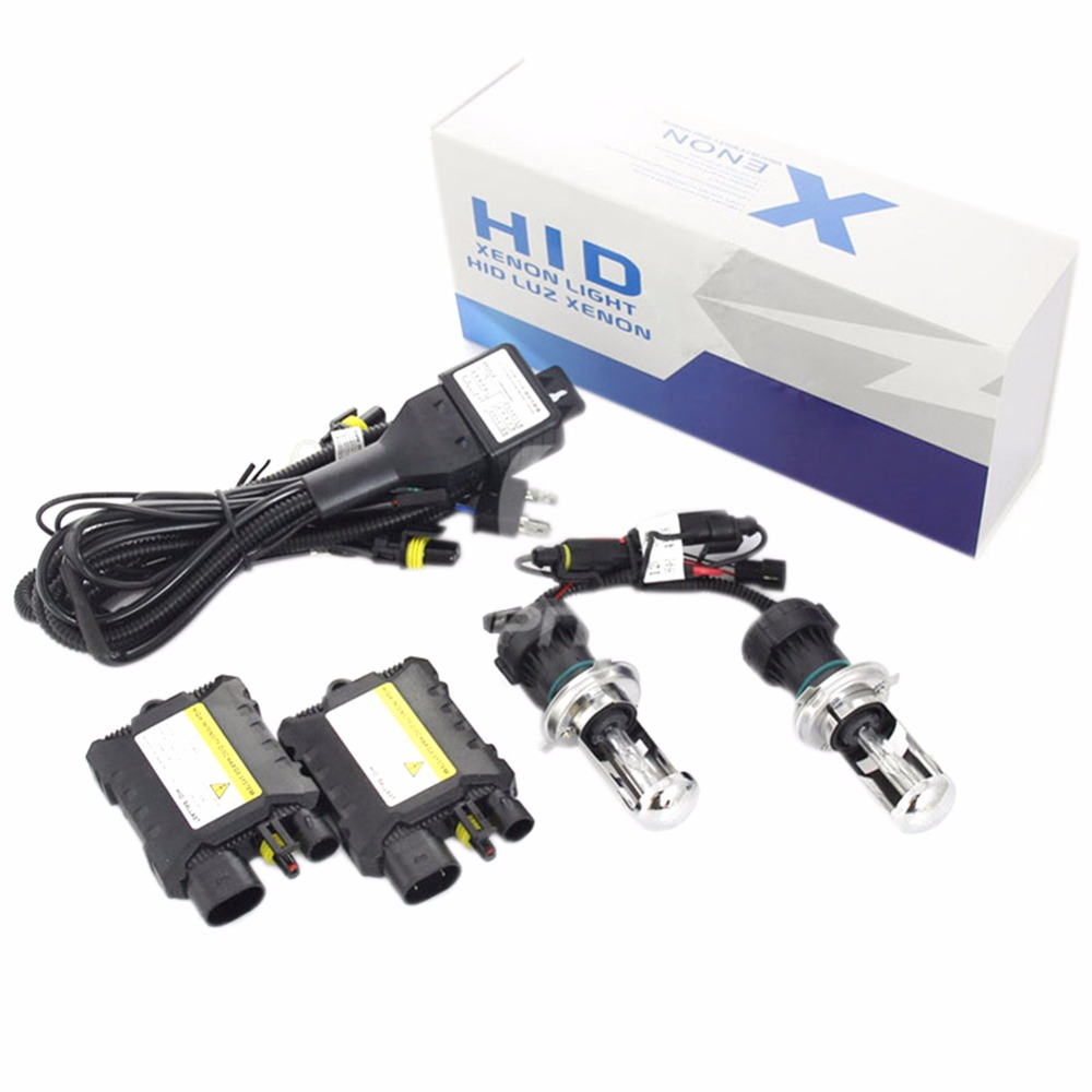 2017 New 55W HID Xenon Headlight Conversion KIT Bulbs H4 55W 6000K/8000K Set 24v 55w h4 3 8000k hid conversion kit xenon ballast bulbs high quality new [cpa44]