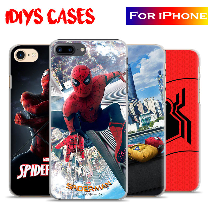 SpiderMan Homecoming 2017 New Movie Coque Phone Case Cover Shell Bag For Apple iPhone 7PLUS 7 6SPLUS 6S 6PLUS 6 5 5S SE 4S 4