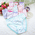 6PCS/ LOT Cotton Panties Girls Kids Short Briefs Children Underwear Child Cartoon Shorts Underpants Random Shipping