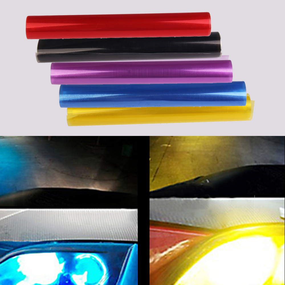 30*60 cm Shiny Car Headlights Tail Lights Tint Vinyl Film Lights Change Color Film Car Styling Decoration Multi Colors Hot Sale