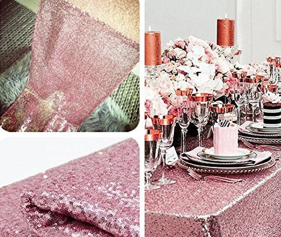 120x200cm Red Champagne Gold Sequin Tablecloth Rectangle Style For Wedding Party Banquet Table Cloth Decoration In Tablecloths From Home