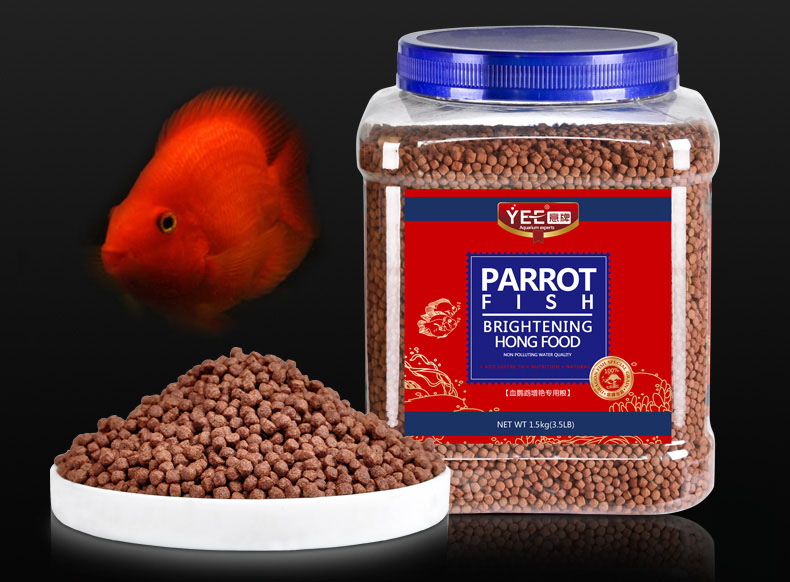 Red Parrot Graules Float On Water Giant Blood Gold Blood Parrot Fish Feed Arowana Flowhorn Cichild Fish Food