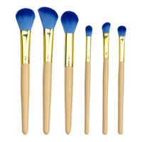 6PCS New Cosmetic Brush Apricot Color Face Powder Beauty Tools Affordable Eye Shadow Concealer Brush Free