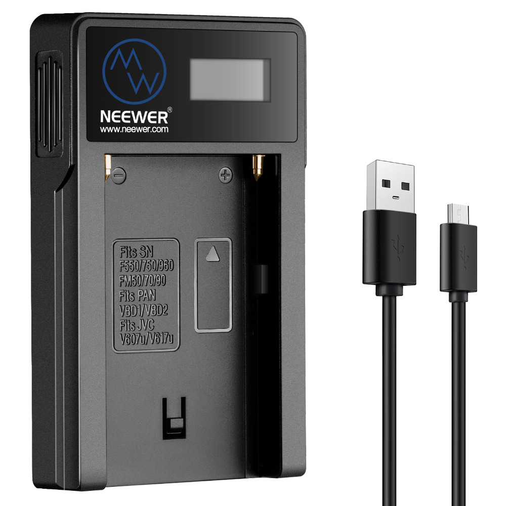 Neewer Micro USB Battery Charger for Sony NP-F550/F750/F960/F970,NP-FM50/FM70/FM90,QM71D,91D,NP- F500H/F55H  BatteriesNeewer Micro USB Battery Charger for Sony NP-F550/F750/F960/F970,NP-FM50/FM70/FM90,QM71D,91D,NP- F500H/F55H  Batteries