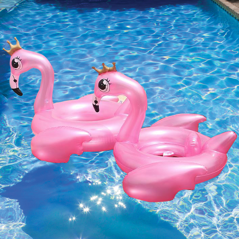 150CM Giant Inflatable Flamingo Pool Float 2018 Newsest Ride on Peacock Swimming Ring Adult Kids Water Holiday Party Toy Piscina