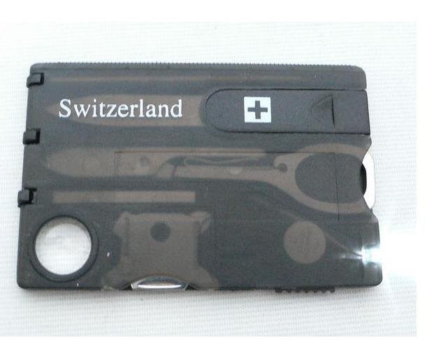 Swizerland 12 IN 1 Credit Card Tool Knife Blade Business Card Knife Card Free Shipping Wholesale, Dropshipping