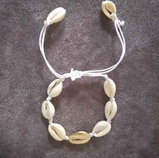 1pc Cowrie shell สร้อยข้อมือปรับ boho Macrame มิตรภาพ Real Seashell สร้อยข้อมือวันแม่ของขวัญเครื่องประดับ 8445-8450