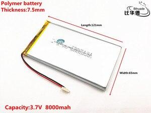 Image 2 - 1 pcs/lot bonne qualité 3.7 V, 8000 mAH, 7565121 polymère lithium ion/Li ion batterie pour jouet, batterie externe, GPS, mp3, mp4