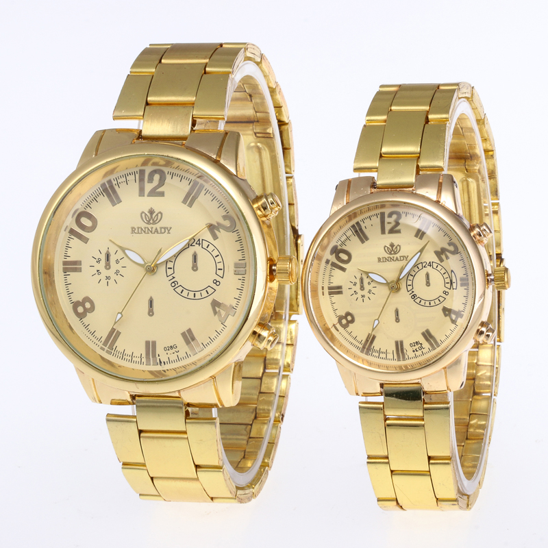 Dropshipping Original Brand 1PC Wrist Watch Men Watch Women Stainless Steel Men's Watch Women's Watches Clock Relogio Mens Gifts