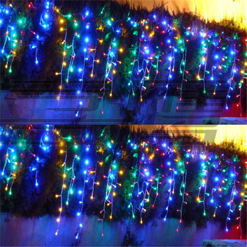 8x0.65m Led Droop String Light New Year Christmas Garland Curtain lamps Wedding Party lighting luminaria chandelier decoration fairy 50m 400 waterproof led garland string lights christmas new year holiday party wedding luminaria decoration lamps lighting