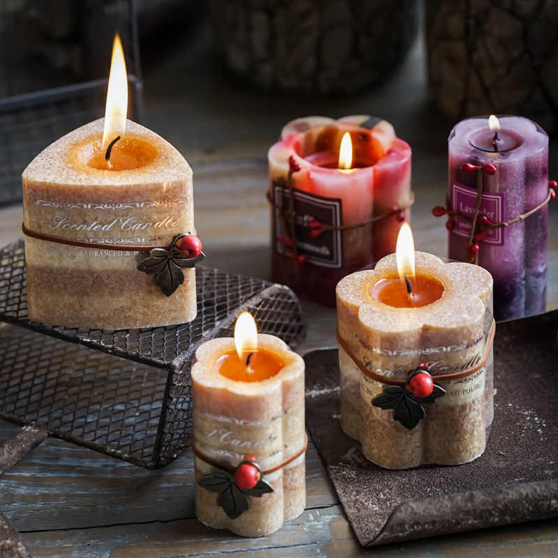 1PCS Pure Natural Aromatherapy Candle romantic candlelight dinner decoration birthday wedding presents smokeless candles.
