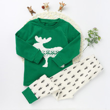 Children Pajamas Suits Fashion Character Pattern 2017 Long Sleeve Top Tee Long Pants Girls And boys Cotton O-neck Clothing Sets