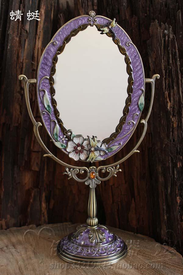 Bon Retro 360 Degree Rotating Purplehome Decoration Makeup Mirror Frame Decorative  Table Mirrors Wedding Decorative Home Mirror J020