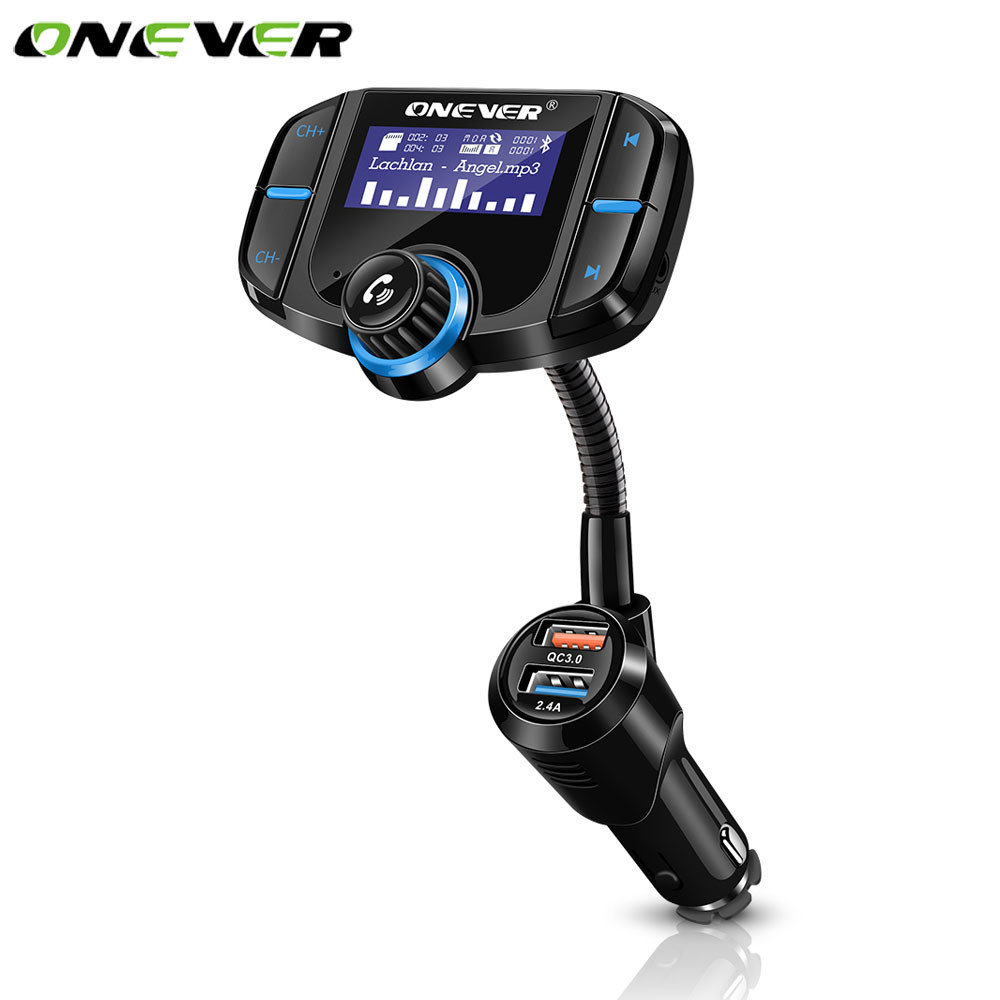 Universal Auto SUV Bluetooth Radio Adapter Handsfree Calling FM Transmitter Kit