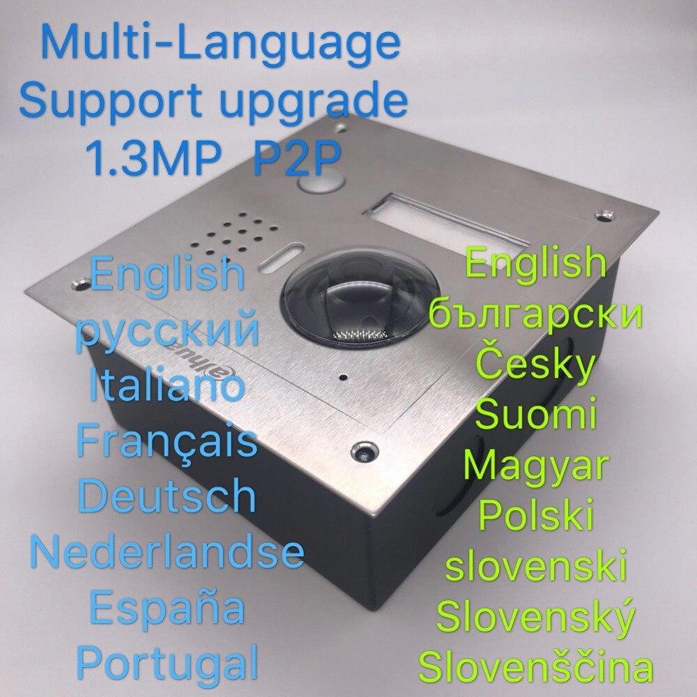 Ahua Multi-idioma VTO2000A Incluye caja de superficie o de caja IP Villa timbre Video intercomunicador IP de la puerta teléfono impermeable nube - 3
