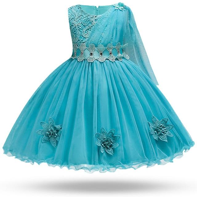 aee0dd17d Vestido de princesa de seda bordado de niña para fiesta de boda vestidos  para niñas pequeñas ropa de Navidad de moda
