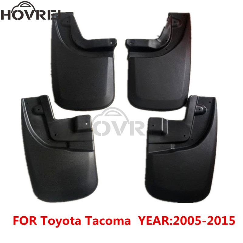 4pcs set car Mudguards Mudflaps For Toyota Tacoma 2005 2015 1999 2010 2012 2013 2014 Splash
