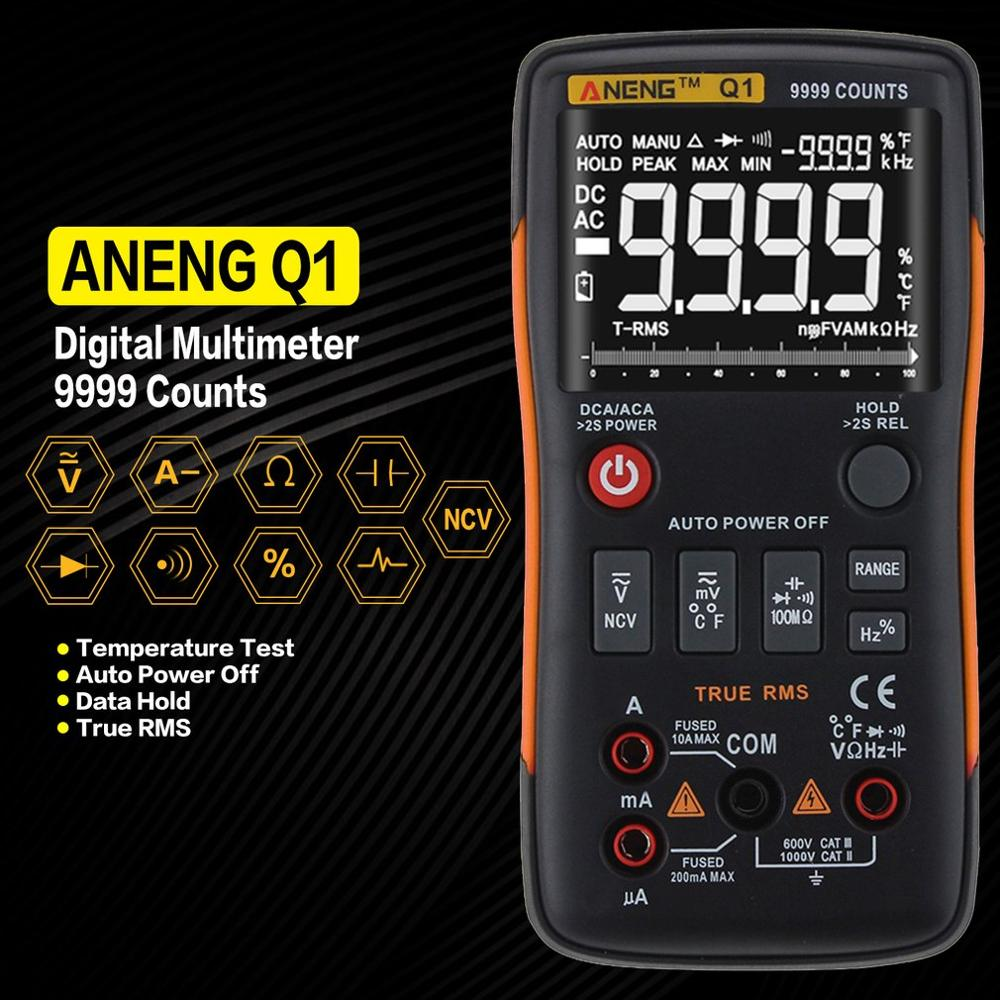 ANENG Q1 True RMS Digital multimeter esr meter testers automotive electrical dmm transistor peak tester meters resistor in Multimeters from Tools