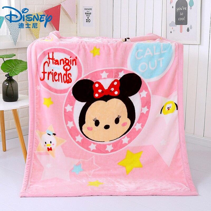 Disney Mickey Minnie Mouse enfants épaissir Double couverture Super douce automne et hiver maternelle couverture en molleton de corail