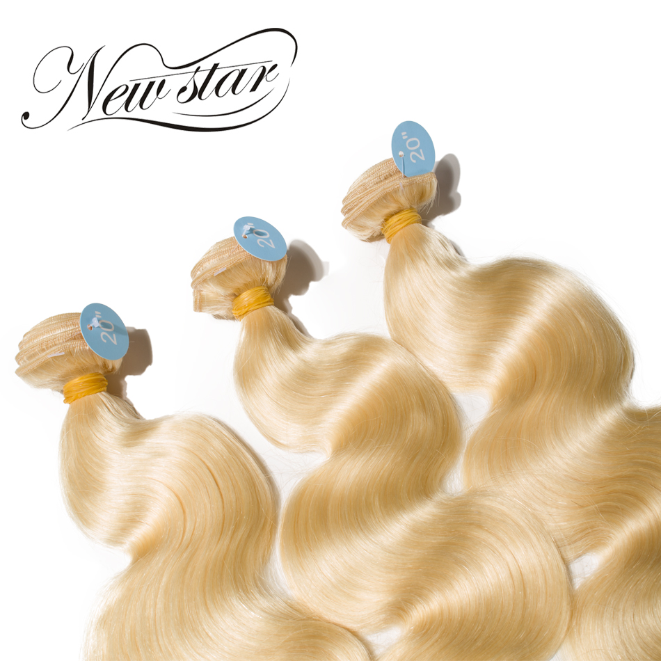NEW STAR 3 Pieces Bundlar 613 Blond Body Wave Brazilian Remy Human - Barbershop - Foto 3