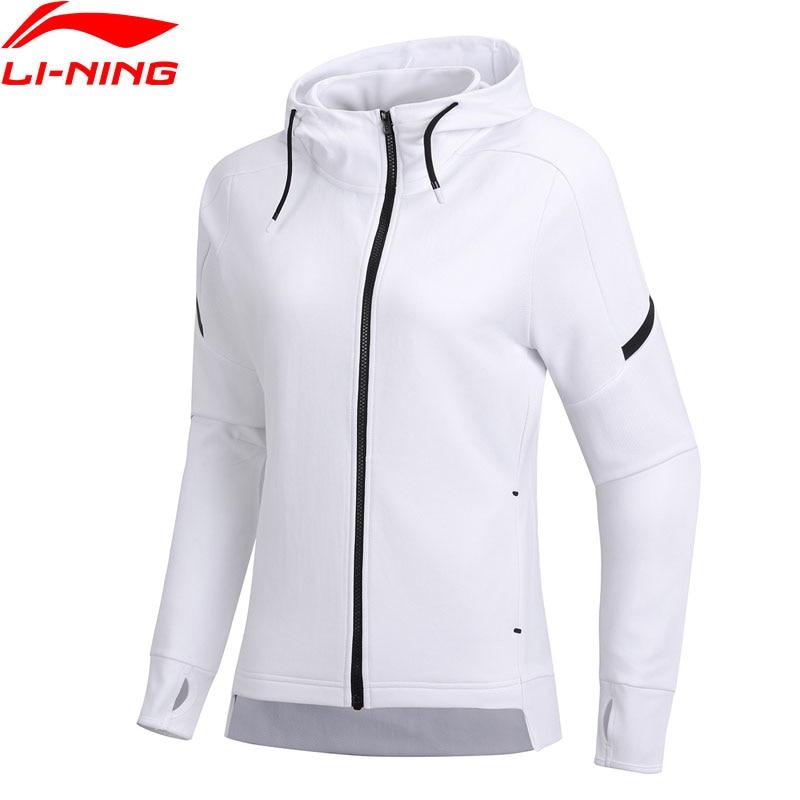 Li Ning Women Training Hoodie Zipper 100 Polyester Regular Fit 3D Fitting Comfort Jacket LiNing Sports