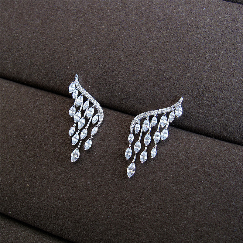 Hot sale Fashion New AAA cubic zirconia clear stone stud earrings ,womens accessaries,E5323