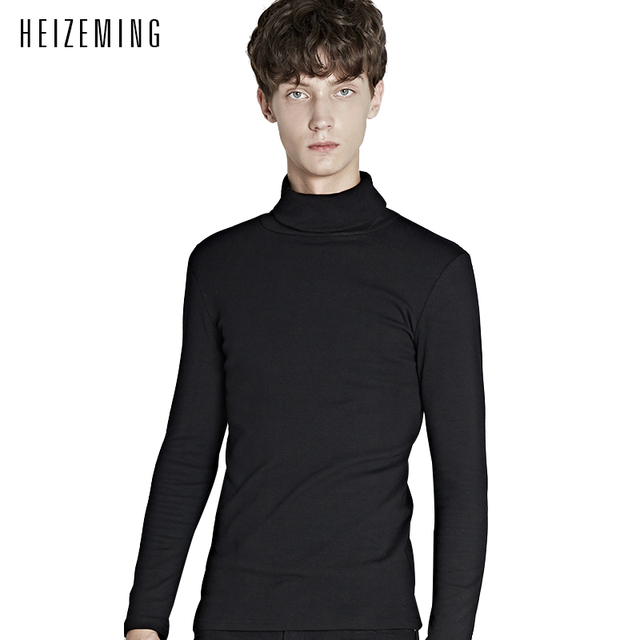 6fcaf434a1a 2016 New Winter No Turtleneck Warm Turtle Neck Sweater Men Top Quality  Knitting Pullover High Collar Mens Sweaters Pull Homme -in Pullovers from  Men's ...