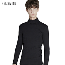 2016 New Winter No Turtleneck Warm Turtle Neck Sweater Men Top Quality Knitting Pullover High Collar Mens Sweaters Pull Homme
