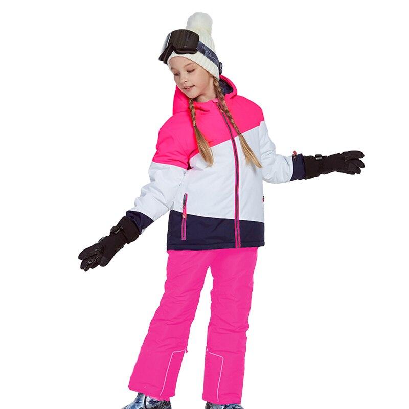 Phibee costume d'hiver pour fille enfants vêtements Ski costume chaud étanche coupe vent Snowboard ensembles hiver veste enfants vêtements - 4