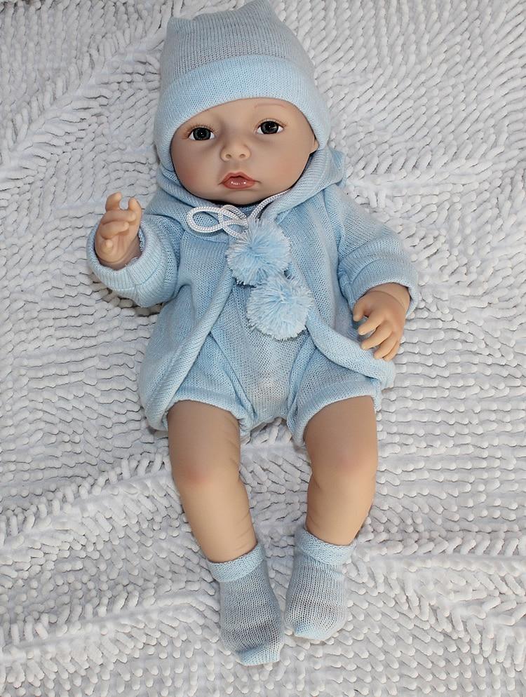 ФОТО newborn baby toy gift 40cm Silicone reborn baby dolls high-end handmade boy baby reborn doll