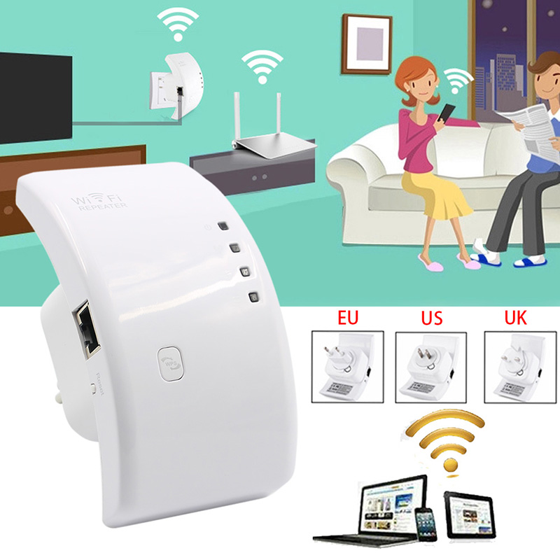 Wifi Booster Repeater Extender Range 300Mbps Wireless AP Router 802.11n EU/US/UK Plug C26