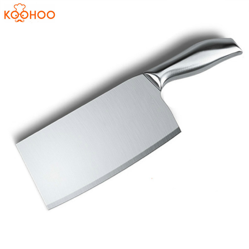 koohoo 3CR13 Stainless Steel 7 inch Cleaver Knife Heavy Duty High Quality Professional Chinese Kitchen Knife Chef Knife