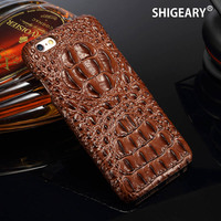 For IPhone 6 6S Cover Genuine Leather Cases For IPhone 6 S Plus Case Luxury Business