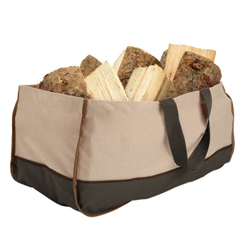 Us 15 83 28 Off Oxford Cloth Bags Multifunctional Charcoal Carrying Bag Logging Logs Carrier Fire Wood Holders Firewood Storage In