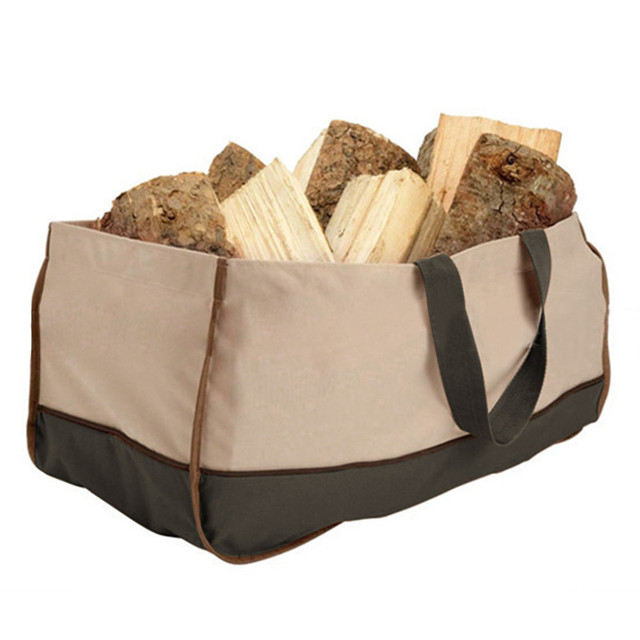 Oxford Cloth Bags Multifunctional Charcoal Carrying Bag Logging Logs Carrier Fire Wood Holders Firewood Storage