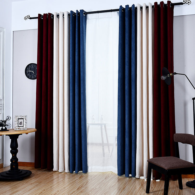 Striped 3 Colors Cortina Window Curtains For Living Room Luxurious Upscale  Jacquard Yarn Blinds Cortinas Door