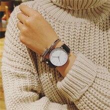 2017 Minimalist Style Neutral Watches BGG Fashion Watch Men Women Quartz Clock Korean version Wild Dress Wristwatch Leather Band