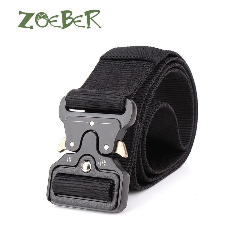 ZOEBER Hot Mens Tactical   Belt   Military Nylon   Belt   Outdoor multifunctional black Training   Belt   High Quality Strap ceintures